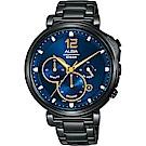 ALBA 雅柏 Tokyo Design 年度限量計時手錶(AT3E21X1)-藍x鍍黑