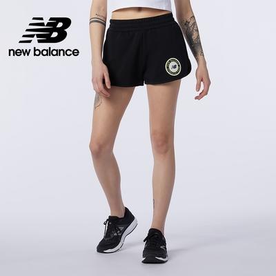 [New Balance]棉質短褲_女性_黑色_AWS13501BK