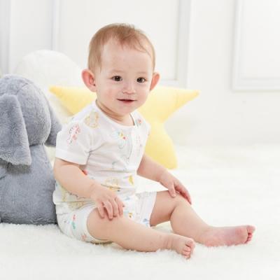 【麗嬰房 】Cloudy雲柔系列 動物塗鴉印花短袖兩粒扣套裝-兩件組(76cm~130cm)