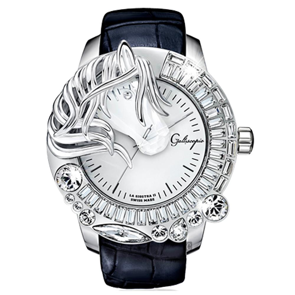 Galtiscopio迦堤  LA GIOSTRA LL 童真木馬二代手錶-黑錶帶