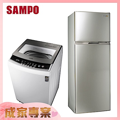 SAMPO聲寶 250L變頻冰箱SR-A25D + 12.5KG定頻洗衣機ES-B13F