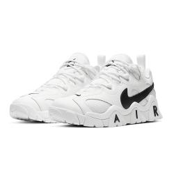 NIKE 籃球鞋 休閒鞋 經典 復古 運動鞋 男女鞋 白黑 CW3130100 Air Barrage Low