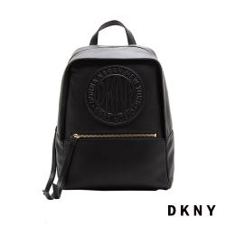 DKNY LOGO皮革後背包 黑