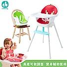 Creative Baby三合一成長型餐椅-綠色/紅色(超值組)