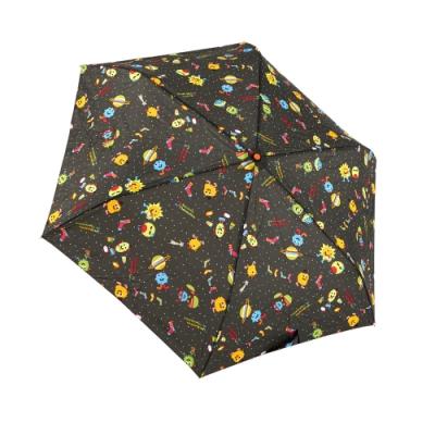 RAINSTORY怪獸PARTY(深灰)抗UV手開輕細口紅傘