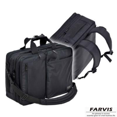 【FARVIS】日本機能 3WAY 輕量 電腦後背包 公事包