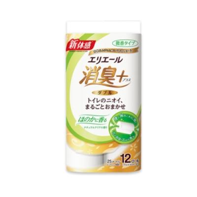 日本大王  elleair除臭+天然淨味捲筒衛生紙潔淨12捲入/包((微香型)