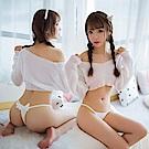女內褲-天使與惡魔的距離丁字褲-EM衣柔魅姬 (白色)