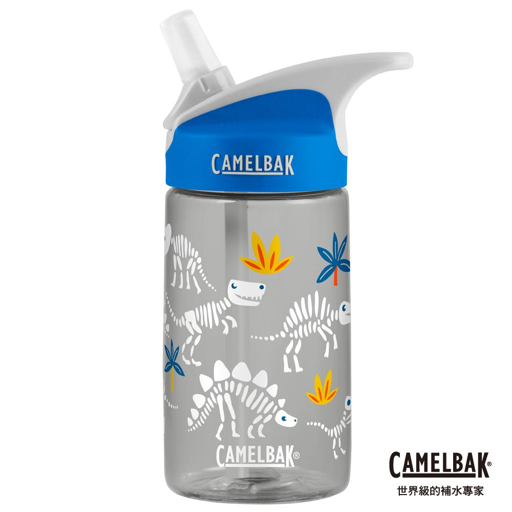 【美國 CamelBak】400ml eddy兒童吸管運動水瓶 恐龍化石