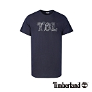 Timberland 男款深寶藍品牌印花短袖圓領T恤|A1NIQ