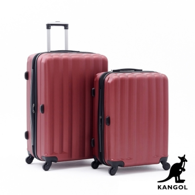 DF travel - 英國袋鼠海岸線系列ABS硬殼拉鍊24+28吋兩件組行李箱