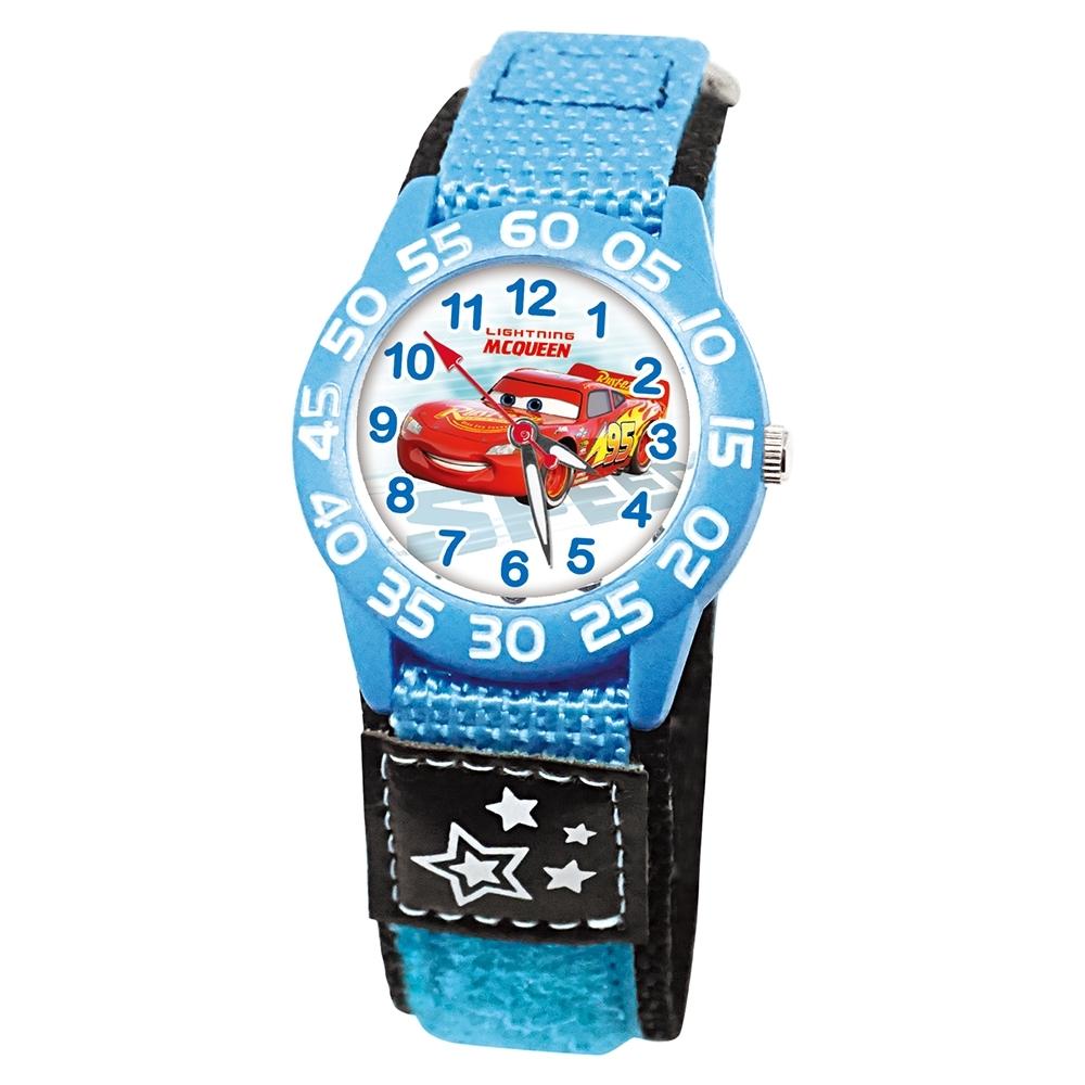DF童趣館 - 迪士尼日本品牌機芯數字殼休閒織帶兒童手錶-共5色 product image 1