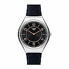Swatch 超薄金屬系列 SKINCOUNTER墨藍手錶