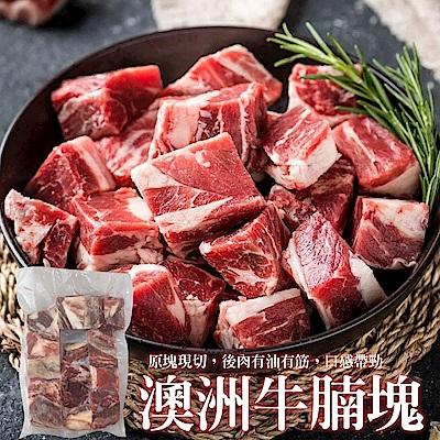 (滿699免運)【海陸管家】澳洲草飼牛腩塊1包(每包約500g)
