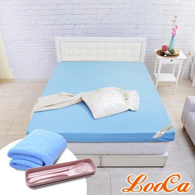 (破盤組)LooCa 雙認證竹炭紗11cm彈力記憶床墊-加大6尺