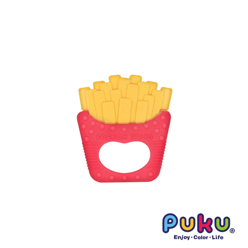 【PUKU】Baby GaGa薯條固齒器(含鍊夾/收納盒)