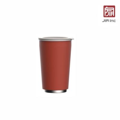 JIA Inc. 品家家品 虹彩鋼 雙層琺瑯塗層隨行杯350ml-紅