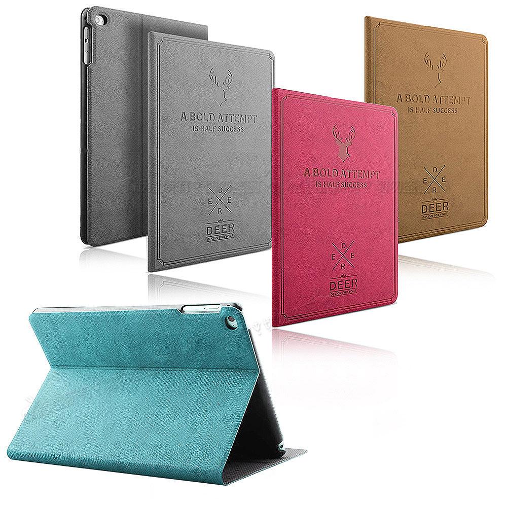 VXTRA iPad mini 4 北歐鹿紋風格平板皮套 防潑水立架保護套 @ Y!購物