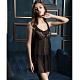 華歌爾睡衣-摩登 M-L 性感裙裝(黑)網紗- product thumbnail 1