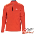 Wildland 荒野 P1608-13橘紅 男POLARTEC長袖上衣