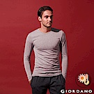 GIORDANO 男裝Beau-warmer plus+彈力圓領極暖衣-03 灰色