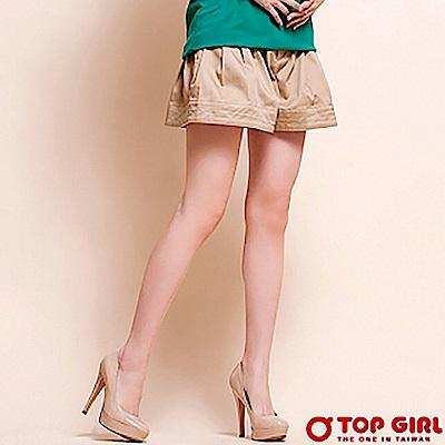 【TOP GIRL】小辣椒百摺褲裙 - 中卡其