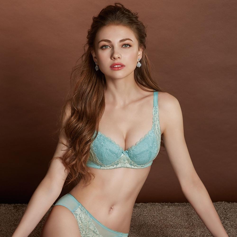 曼黛瑪璉 Hibra大波內衣 B-G罩杯(湖水藍)