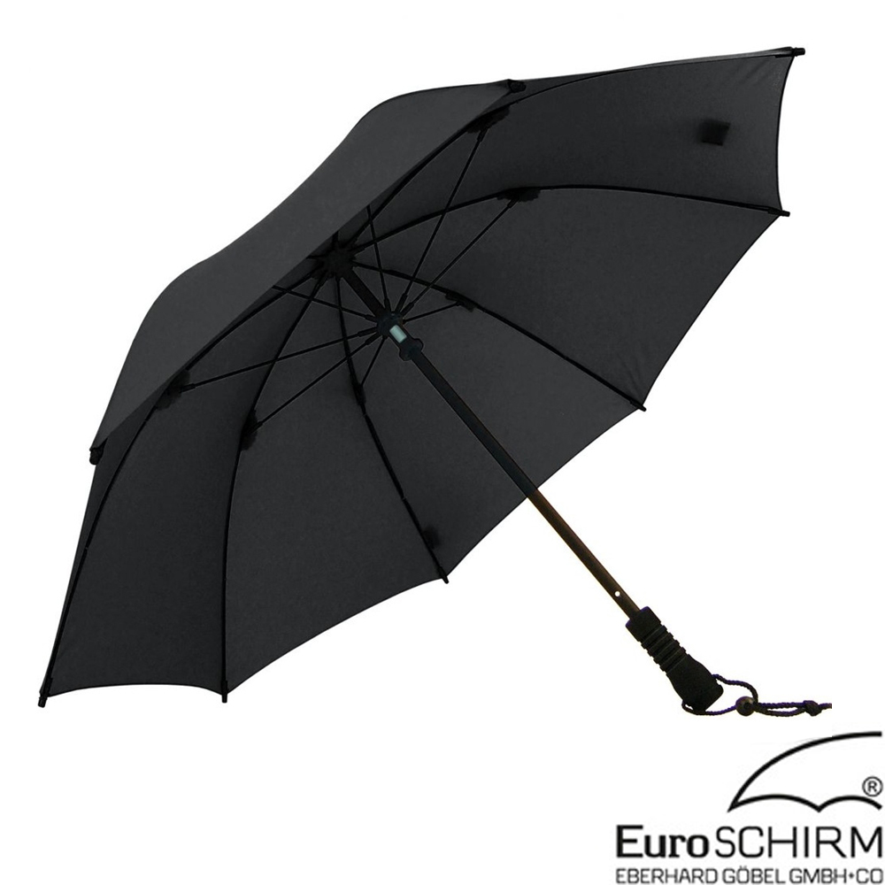 EuroSCHIRM SWING 徒步旅行輕量直傘.雨傘_黑