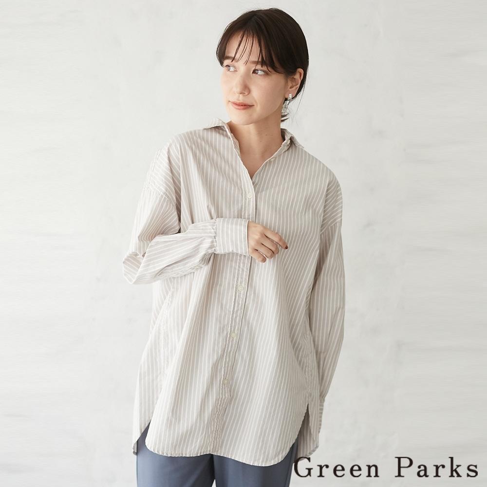 Green Parks 素面/條紋氣質百搭襯衫上衣