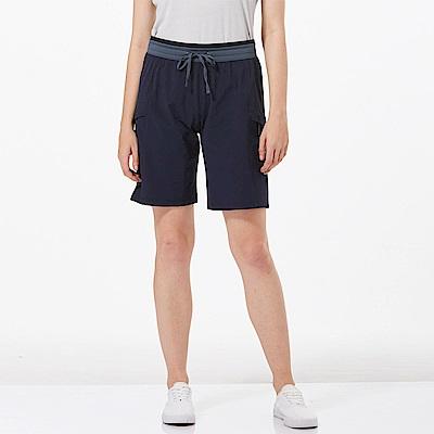 【HAKERS 哈克士】女 快乾彈性短褲-海軍藍