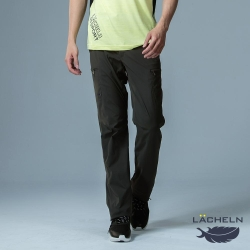 【LACHELN】抗UV彈性休閒男多口袋兩穿工作褲-L91M701炭灰色