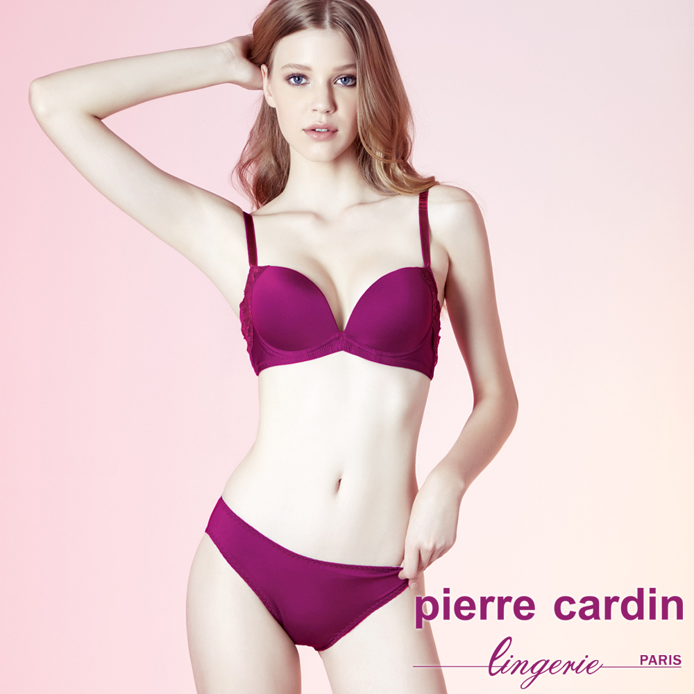 Pierre Cardin皮爾卡登 B罩 無痕集中托高拉提內衣(成套-粉) @ Y!購物