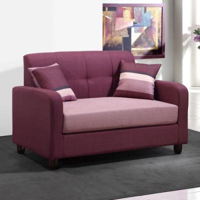 H&D 二人座紫布沙發