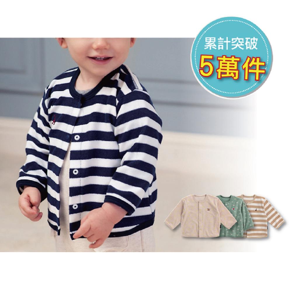 日本雜誌款-日製毛巾布小外套-點點-條紋