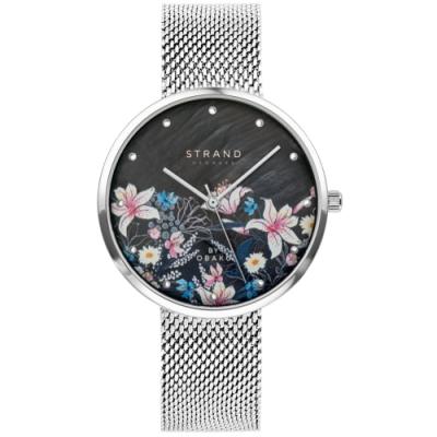 STRAND 丹麥海之星時尚腕錶-花語-銀白/35mm(S700LXCBMC-DF)
