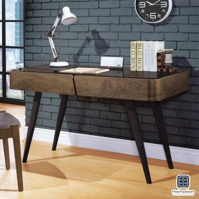 Hampton雷諾斯系列4.2尺黑腳書桌-125*55*75cm