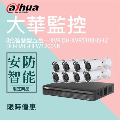 【大華dahua】套餐-奢華版8路8鏡(主機+8攝影機+1配件)