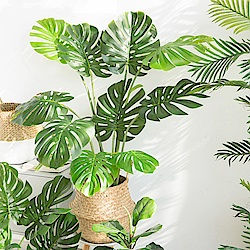 【Meric Garden】北歐風格居家裝飾高仿真大型景觀植栽擺設盆栽(龜背芋M)