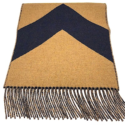 HERMES 經典喀什米爾羊絨雙面流蘇圍巾
