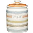 《KitchenCraft》咖啡陶製密封罐(復古條紋)