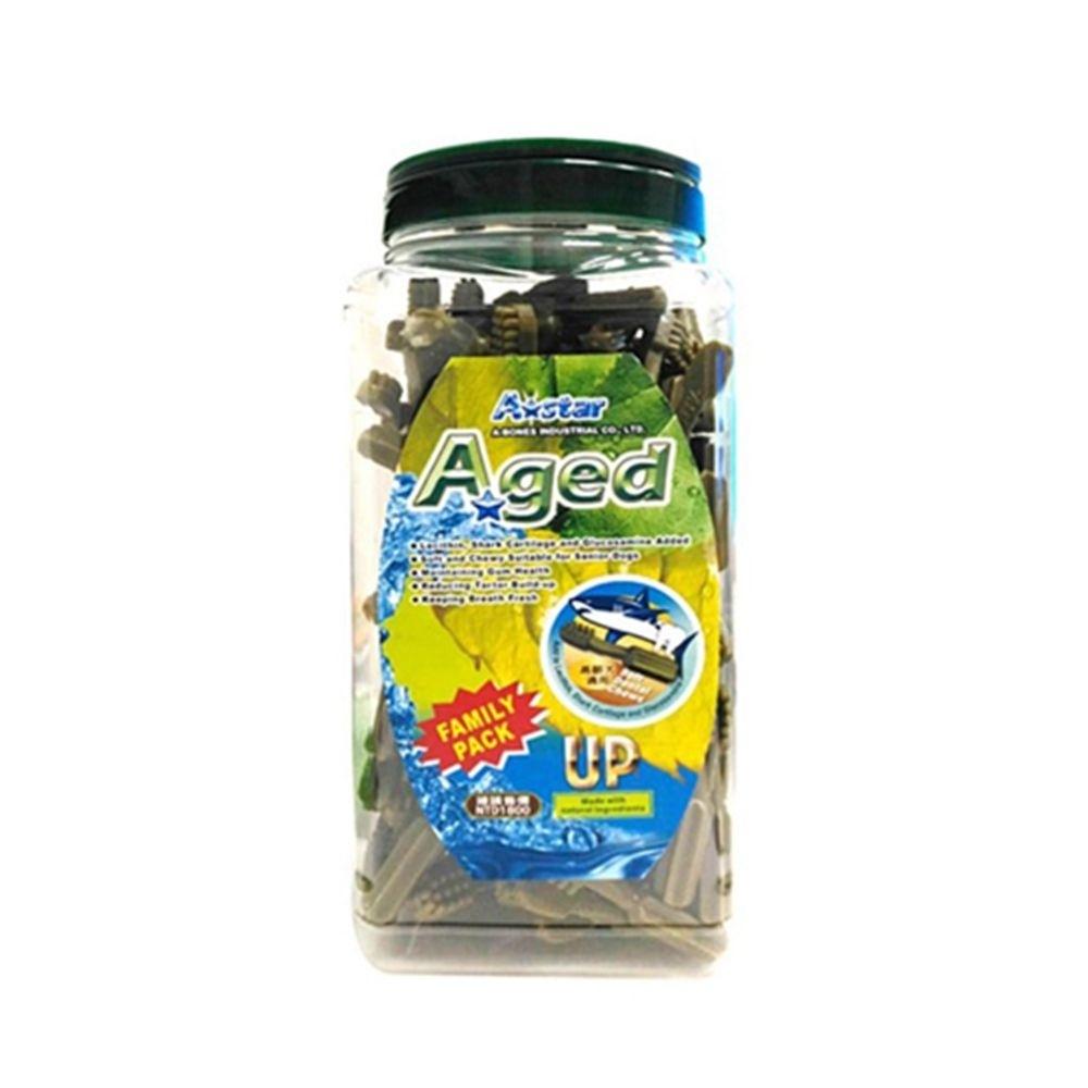 【A☆Star-Bones】A☆Star Aged《雙刷高齡犬用》潔牙骨 2000g 超大桶裝