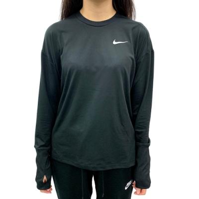 Nike Element 女 長袖上衣 黑-928742010
