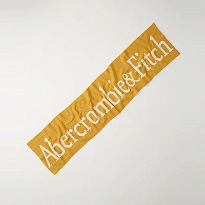 A&F 經典文字設計針織舒適保暖圍巾-金黃色 AF Abercrombie