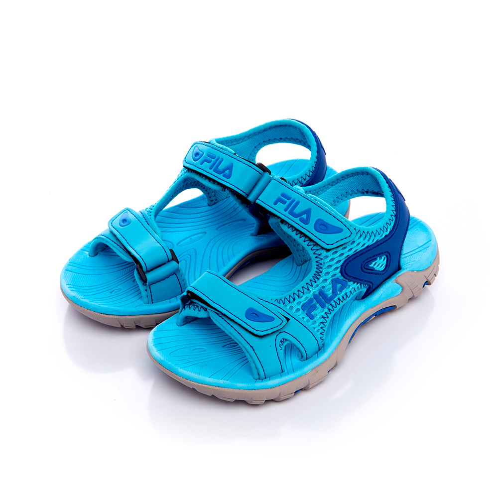 FILA KIDS 大童MD運動涼鞋-藍 3-S413S-333