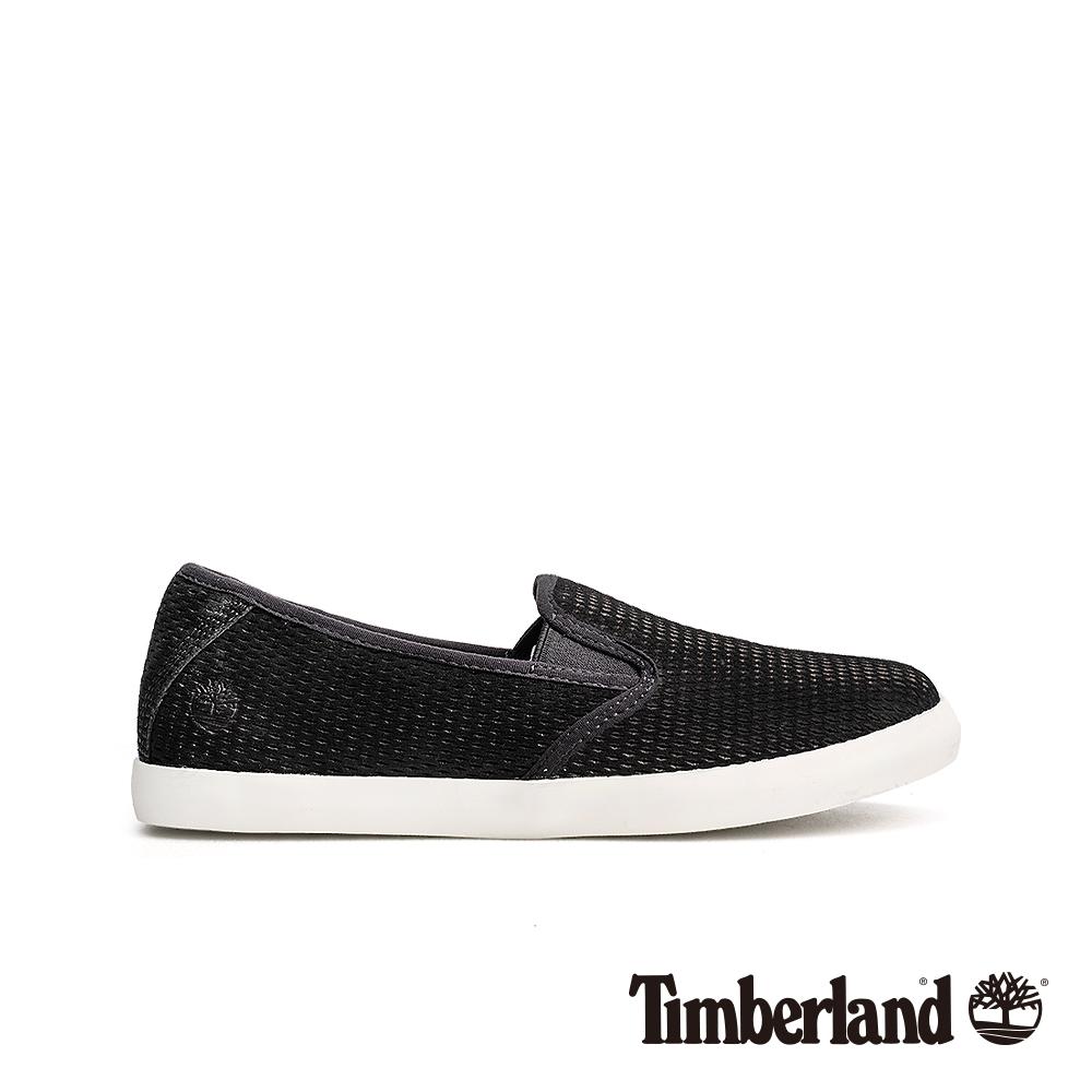 Timberland 女款黑色正絨面皮革便鞋|A1VK2