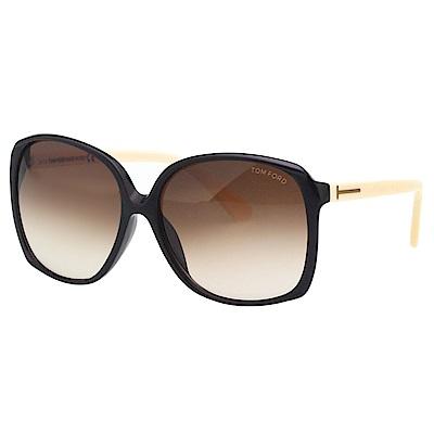 TOM FORD 太陽眼鏡-黑框+米色腳-TF9260
