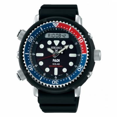 SEIKO ProspexPADI太陽能雙顯潛水腕錶H851-00A0B/SNJ027P1
