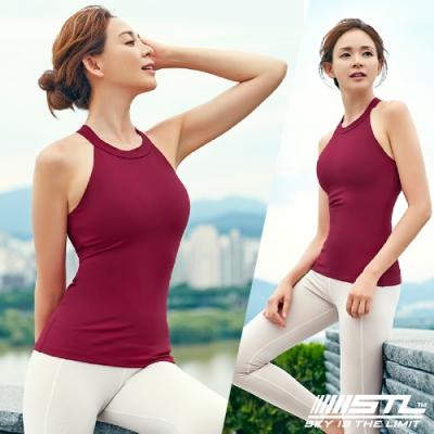 STL yoga Bra T SS Shirts Tint 韓國 運動機能訓練背心上衣(含胸墊)tint酒紅
