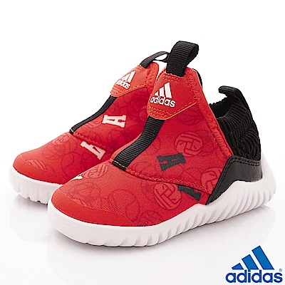 adidas童鞋 超輕量襪套式鞋款 NI6845紅(寶寶段)