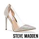 STEVE MADDEN-MARJORIE-R 時尚拼接水鑽簍空細跟高跟鞋-銀色 product thumbnail 1